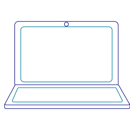 ラップトップの無線LANインターネットデバイスガジェット画面、ベクトルイラスト。  イラスト・ベクター素材