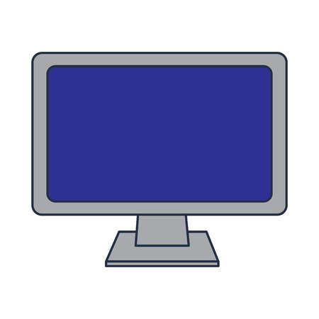 Monitor computer keyboard technology device screen, vector illustration. 向量圖像