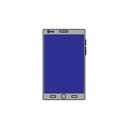 Mobile phone gadget technology touch screen, vector illustration.