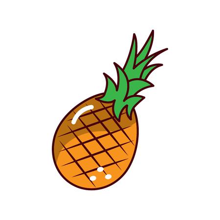 Ananas fruit verse rauwe heerlijke, vector illustratie.