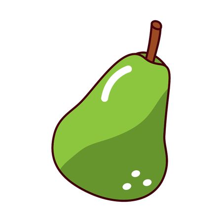 Pear fruit fresh raw delicious, vector illustration.