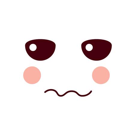 unhappy face emoji icon image vector illustration design Illustration