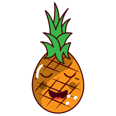 pinapple happy bliss fruit  icon image vector illustration design