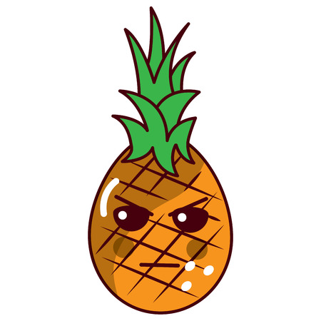 pinapple angry fruit  icon image vector illustration design
