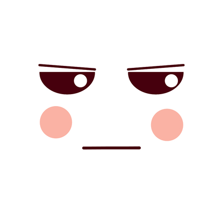 angry face emoji icon image vector illustration design Illustration
