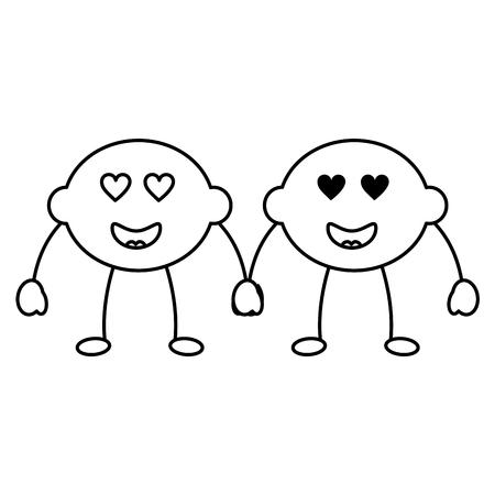 レモン組漫画の陽気な性格のベクトル図