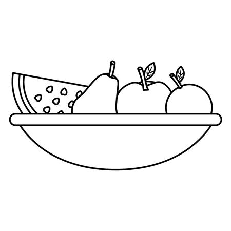 フルーツ新鮮な栄養ビタミン食品ベクトル図鉢します。