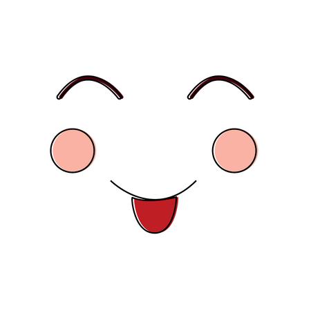 visage expression faciale geste dessin animé vector illustration Illustration