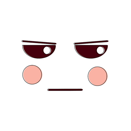 Angry facial gesture cartoon illustration