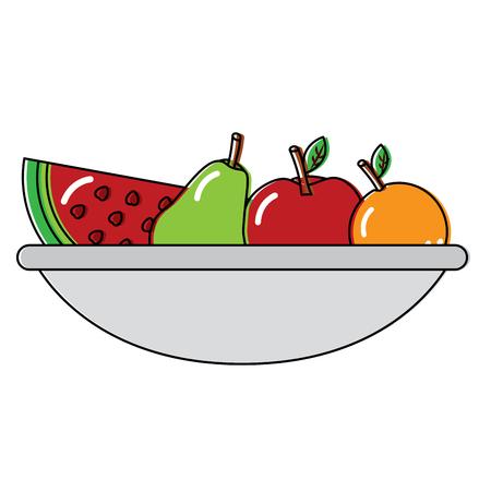 Het ontwerp van de het beeldillustratie van het fruitkompictogram