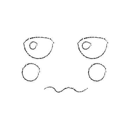 Unhappy face emoji icon image, vector illustration. Illustration