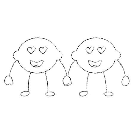 ペアレモン漫画陽気なキャラクターベクトルイラスト