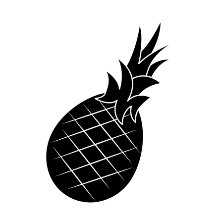 Pineapple fruit, food vector illustration