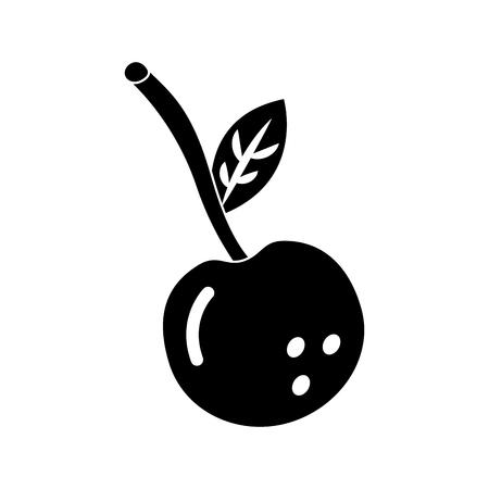 Cherry fruit, food vector illustration Illustration