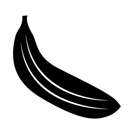 Banana fruit, food vector illustration