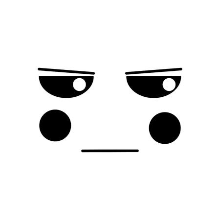 gezichtsuitdrukking gezichtsgebaar cartoon vectorillustratie