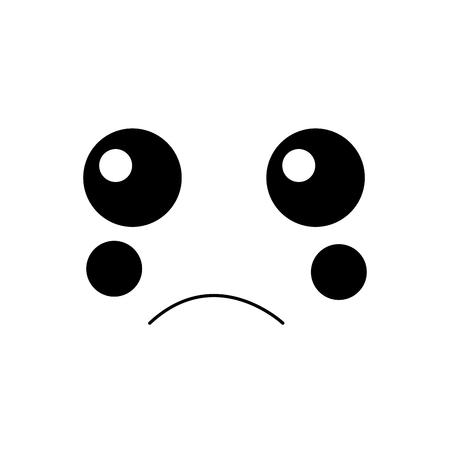 顔表情顔ジェスチャー漫画ベクトルイラスト