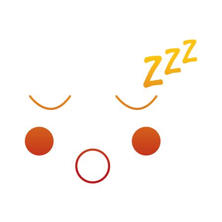 カワイイ顔表情顔ジェスチャー漫画ベクトルイラスト  イラスト・ベクター素材