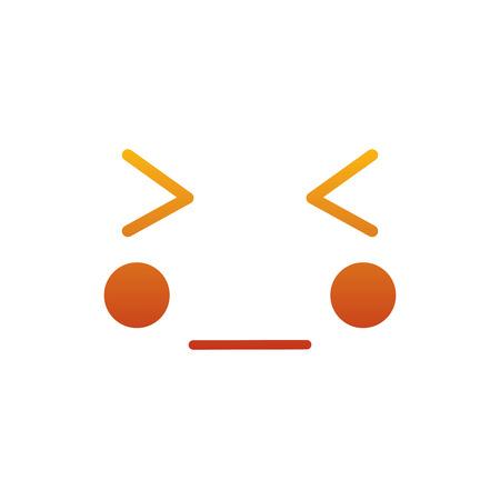 Kawaii gezicht expressie gezichtsgebaar cartoon vectorillustratie Stock Illustratie