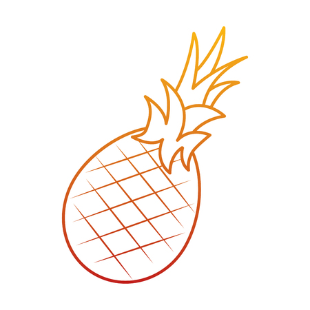Pineapple fruit delicious vitamins nutrition food vector illustration