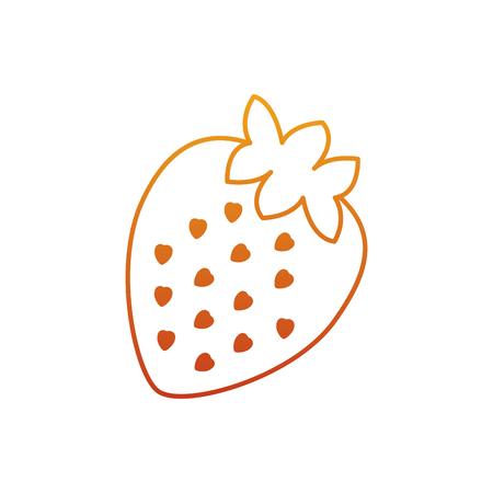 Strawberry fruit delicious vitamins nutrition food vector illustration Illustration
