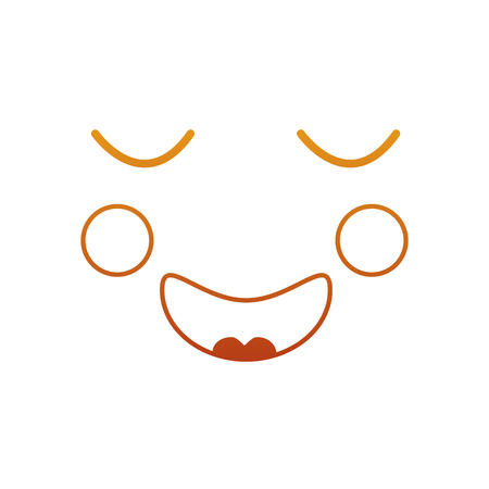 Face expression facial gesture cartoon vector illustration