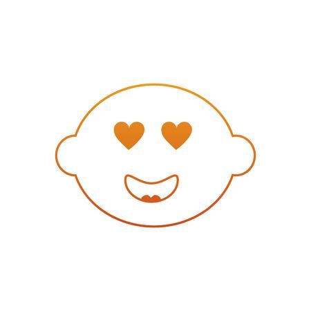 레몬 감귤류의 과일 만화 얼굴 벡터 일러스트 레이션 스톡 콘텐츠 - 90837812