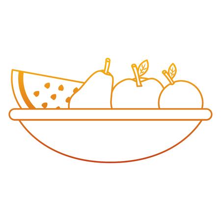 Kom vers fruit, voedsel vectorillustratie