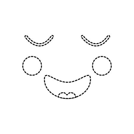 face expression facial gesture cartoon vector illustration sticker Banco de Imagens - 90945861