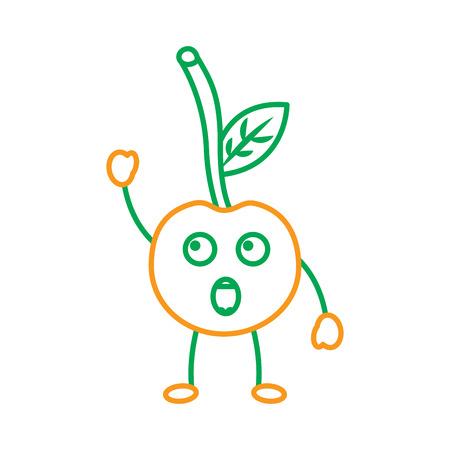 Cherry yelling talking fruit icon image vector illustration design Illustration