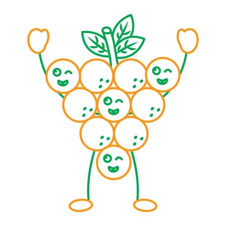 Grapes happy,fruit icon image vector illustration design