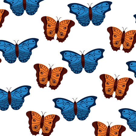 butterflies insect bug pattern image vector illustration design  Illustration