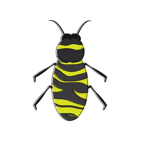 곤충 버그 아이콘 이미지 벡터 일러스트 디자인