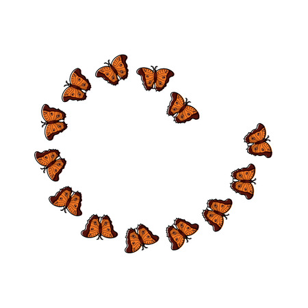 Butterflies spiral insect icon image, vector illustration. Illustration
