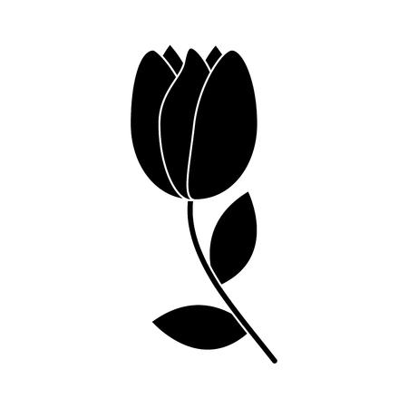 ●チューリップフラワーアイコン画像、ベクトルイラスト。