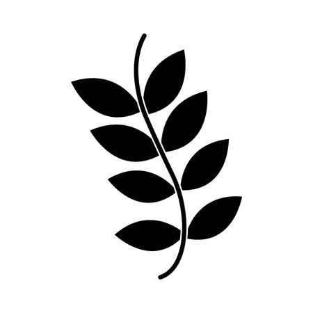 Plant onkruid wild pictogramafbeelding, vectorillustratie. Stock Illustratie