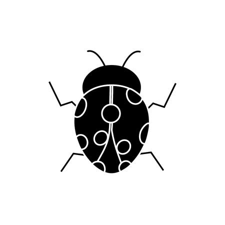 Lieveheersbeestje insect bug pictogramafbeelding, vectorillustratie.