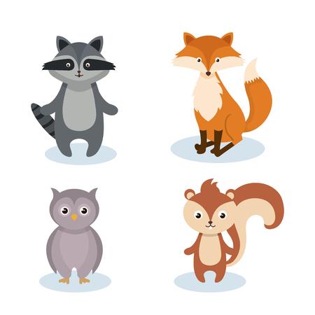 bosdieren wild pictogram vector illustratie ontwerp