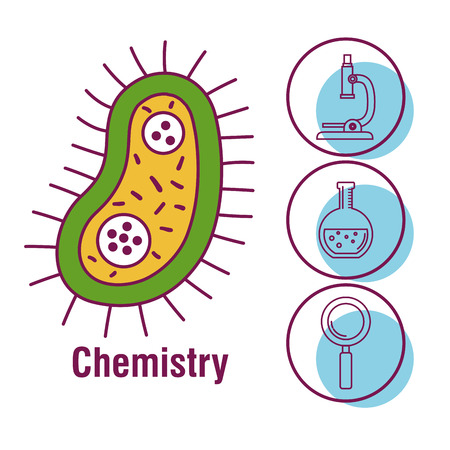 chemistry science poster icon vector illustration design