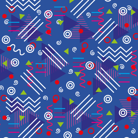 lines figures and colors young pattern background vector illustration