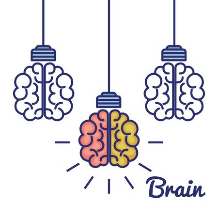 creative brain concept icon vector illustration design Ilustrace