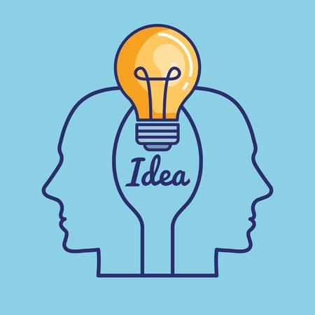 創造的な脳の概念アイコン、ベクトル イラスト デザイン。