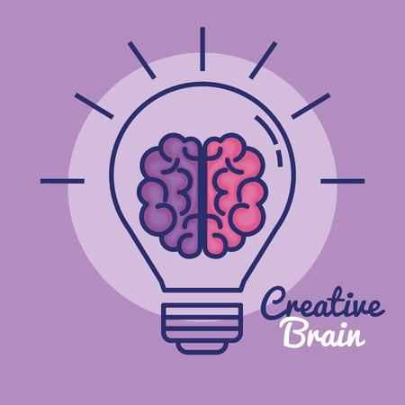 Creative brain concept icon, vector illustration design. Ilustrace