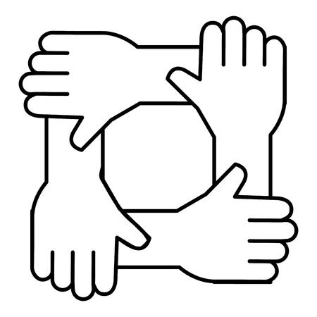United teamwork hands icon, vector illustration design.
