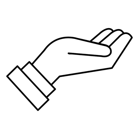 Hand receiving, isolated icon vector illustration design.