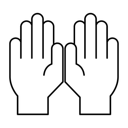 Mains gps icône isolé design illustration vectorielle Banque d'images - 91038286