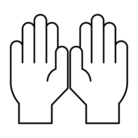 hands protected isolated icon vector illustration design Illustration