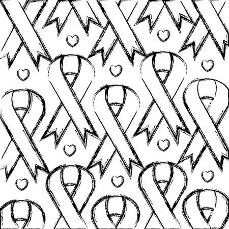 リボン キャンペーン パターン背景ベクトル イラスト デザイン