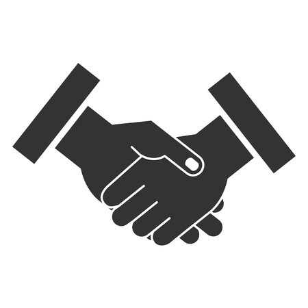 hands done deal isolated icon vector illustration design