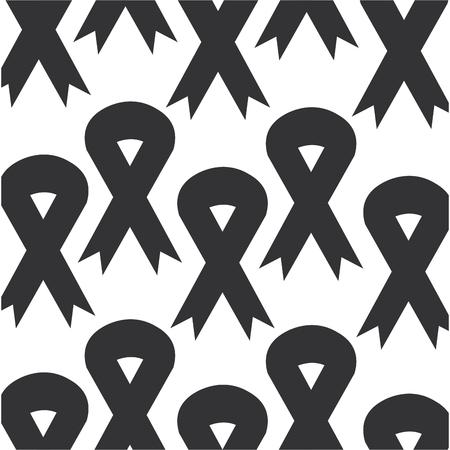 ribbon campaign pattern background vector illustration design Ilustrace
